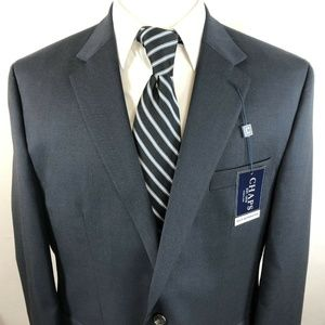 Chaps 46R Two Button Suit Jacket Wool Navy NWT